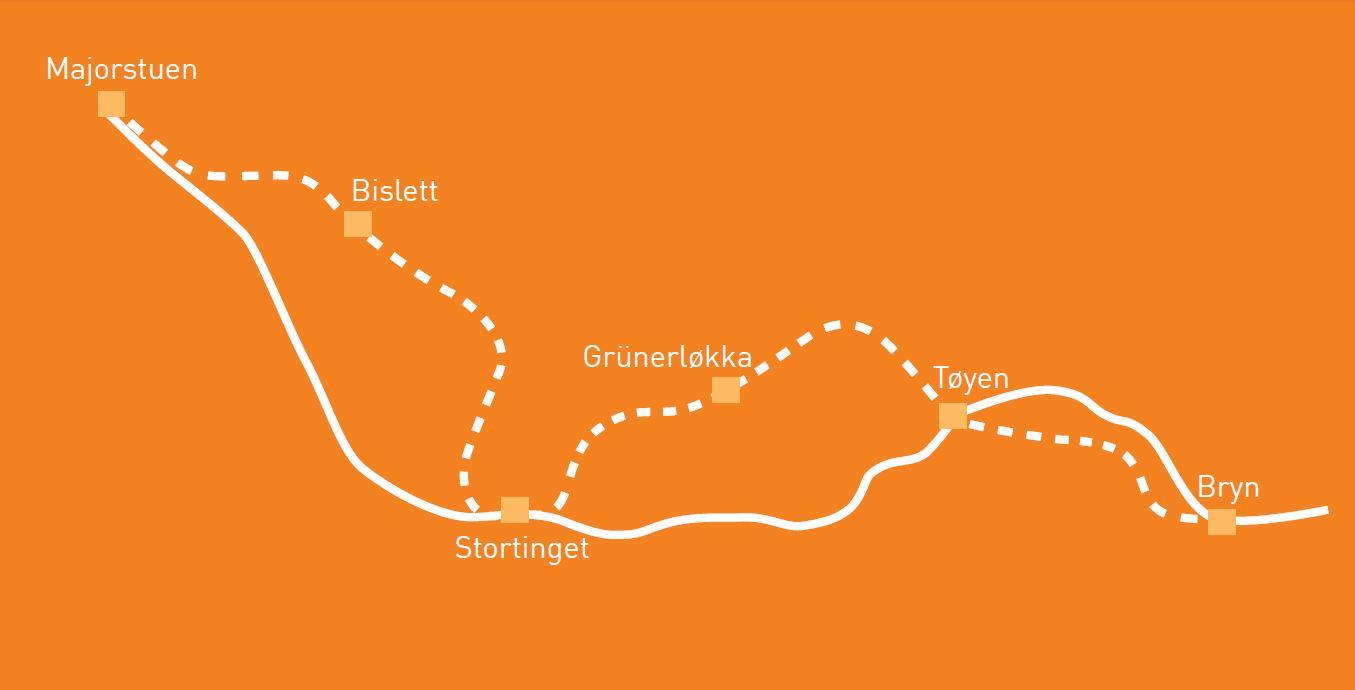 Ny T Banetunnel Gjennom Oslo Sentrum Ruter