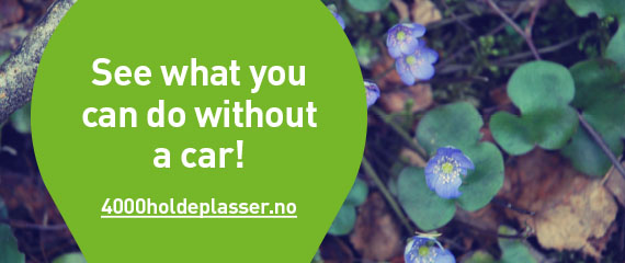 See what you can do without a car at 4000holdeplasser.no.
