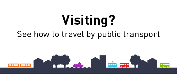 Visiting? See how to travel by public transport